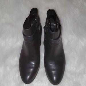 Coach Size 7.5 B Classic Black Leather Booties